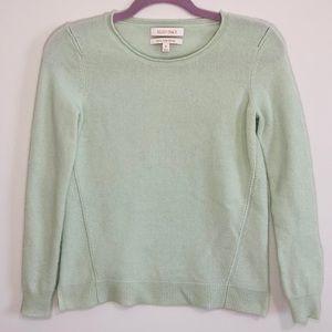 Ellen Tracy 100% cashmere mint sweater S